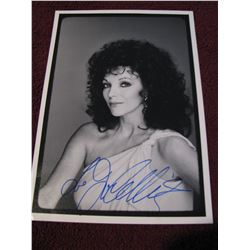 """JOAN COLLINS SIGNED 7"""" X 10"""" PICTURE"""
