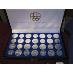 1976 MONTREAL OLYMPICS 28 COIN SET