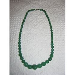 """18"""" FACETED EMERALD NECLACE"""