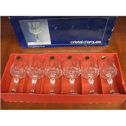 SET OF 6 NEW CRYSTAL WINE GLASSES