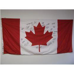 SIGNED TEAM CANADA FLAG