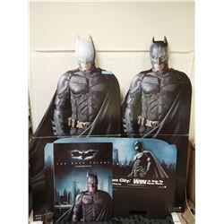 4 X BATMAN DARK KNIGHT CARDBOARD CUTOUTS/SIGNS