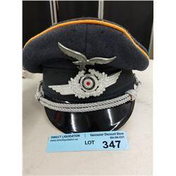 LUFTWAFFE PEAKED CAP W/ ORIGINAL INSIGNIA