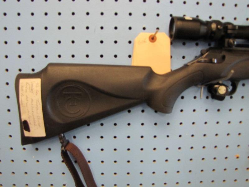 g106    Thompson Center impact muzzleloader 50 cal break open with Bushnell  scope