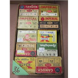 Lot 10 Boxes Collector Shotgun Ammo - Misc Quantities