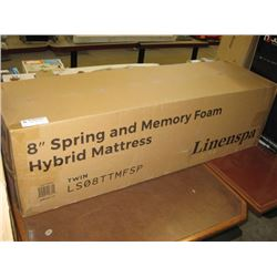 "LINENSPA TWIN 8"" SPRING AND MEMORY FOAM HYBRID MATTRESS ..."