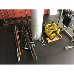 LOT OF EXERCISE/MACHINE ACCESSORIES