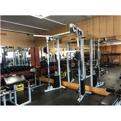 2 STACK CABLE WEIGHT EXERCISE MACHINE, COMES WITH BENCH