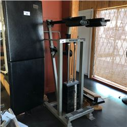 STANDING CALF MACHINE WITH ASSORTED ANGLE BLOCKS