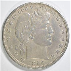 1892-O BARBER HALF DOLLAR   CH BU