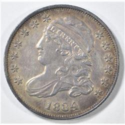 1834 BUST DIME CH AU