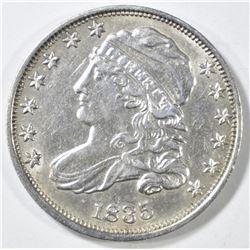 1835 BUST DIME  CH AU