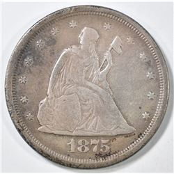 1875-S 20 CENT VF