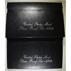 2-1998 U.S. SILVER PROOF SETS
