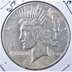 1935-S PEACE DOLLAR, CH AU