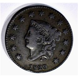 1829 LARGE CENT VF