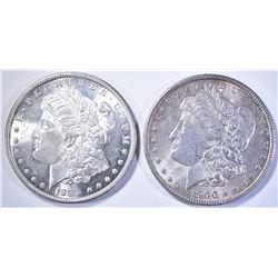 1889 CH BU & 1900 BU MORGAN DOLLARS
