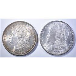 1884-O & 1900 MORGAN DOLLARS   BU