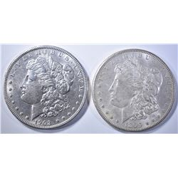 1899-O & 1903 MORGAN DOLLARS   BU