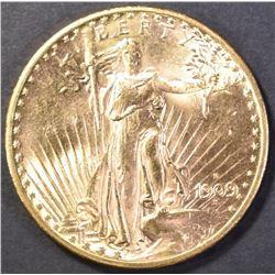 1909-S $20 SAINT GAUDENS GEM BU