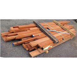 """A. Mahogany Bundle, 240 Total Board Ft, 2"""" x 9' Ave Per Piece"""