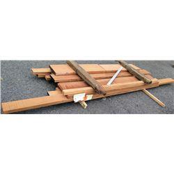 """A. Mahogany Bundle, 171 Total Board Ft, 2"""" x 9' Ave Per Piece"""
