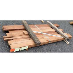 """A. Mahogany Bundle, 51 Total Board Ft, 2"""" x 8' Ave per Piece"""