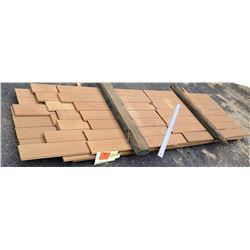 "Western Red Cedar Wood Bundle, 65 Total Board Ft, .75"" x 7' Ave Per Piece"