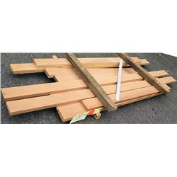 "Cypress/Douglas Fir Bundle, 40 Total Board Ft, 2"" x 6.5' Ave Per Piece"