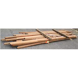 """A. Mahogany Bundle, 160 Total Board Ft, 2"""" x 13' Ave Per Piece"""