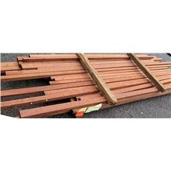 "Sapele Bundle, 107 Total Board Ft, 2"" x 8' Ave Per Piece"