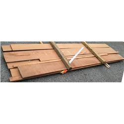 """A. Mahogany Bundle, 76 Total Board Ft, 1"""" x 12' Ave Per Piece"""