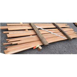"""A. Mahogany Bundle, 29 Total Board Ft, 1"""" x 9' Ave Per Piece"""