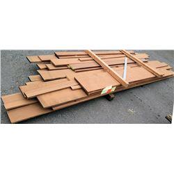 """A. Mahogany Bundle, 185 Total Board Ft, 1"""" x 9' Ave Per Piece"""