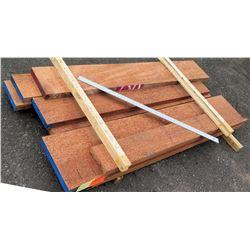 """A. Mahogany Bundle, 72 Total Board Ft, 2"""" x 6' Ave Per Piece"""