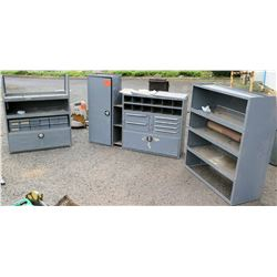 Metal Cabinets & Shelving Units (for use in full size work van)