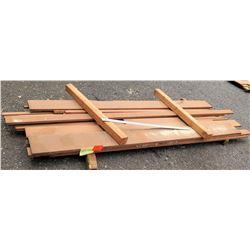 "Sapele Bundle, 62 Total Board Ft, 1"" x 10' Ave Per Piece"