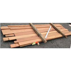 """A. Mahogany Bundle, 63 Total Board Ft, 1"""" x 10' Ave Per Piece"""