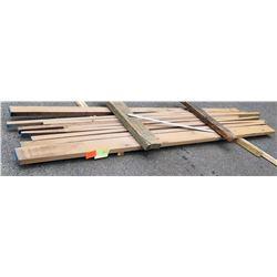 "Walnut Bundle, 68 Total Board Ft, 2"" x 12' Ave Per Piece"
