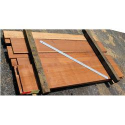 """A. Mahogany Bundle, 34 Total Board Ft, 1"""" x 6' Ave Per Piece"""