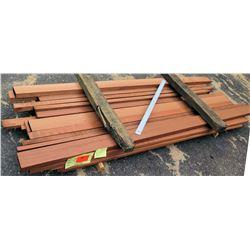 "Sapele Bundle, 76.5 Total Board Ft, 1"" x 9' Ave Per Piece"