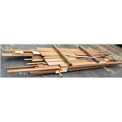 "Wood Bundle, 158 Total Board Ft, 1"" x 9.5' Ave Per Piece"