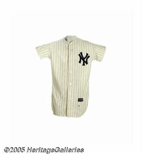 1ae2b1b58 Image 1   HSC  1966 Ruben Amaro Game Worn NY Yankees Jersey ...