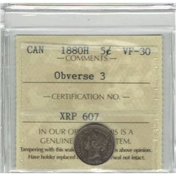 1880-H Canada 5 Cent
