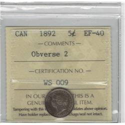 1892 Canada 5 Cent