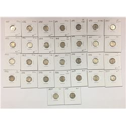 1885 to 1907 Canada 5 Cent Coin Set