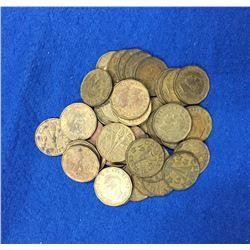 1943 Canada 5 Cent Coin Set