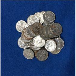 1945 Canada 5 Cent Coin Set