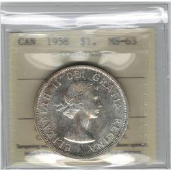 1958 Canada 1 Dollar