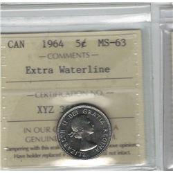 1964 canada 5 Cent